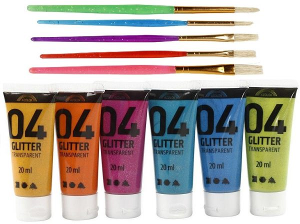 A-Color - Glitter Color and Kids Paint Brushes