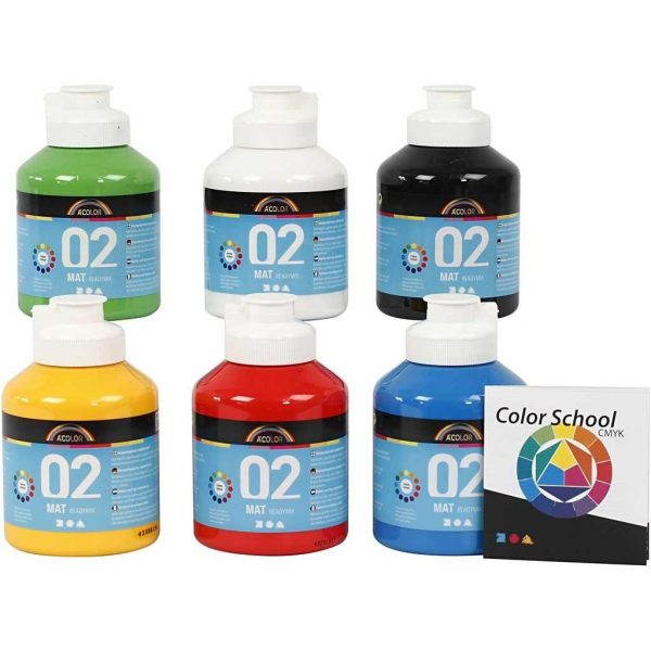 A-Color - Readymix Maali - Matta - (6 x 500 ml)